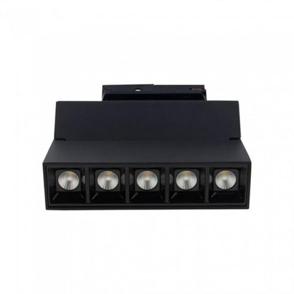 Corp LED liniar pe sina Cip Samsung 12W Corp Negru Alb Cald