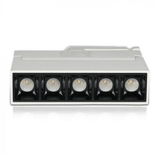 Corp LED liniar pe sina Cip Samsung 12W Corp Alb Alb Cald