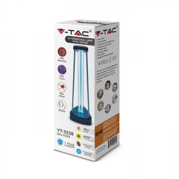 Lampa bactericida dubla sterilizare UV-C cu Ozon 38W