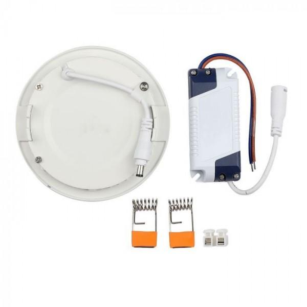 Panou LED 18W Premium Rotund Slim Alb Rece