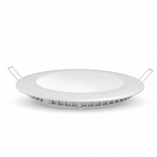 Panou LED 12W Rotund Premium Alb Cald