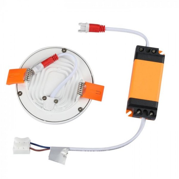 Panou LED 8W rotund Alb Rece fara rama