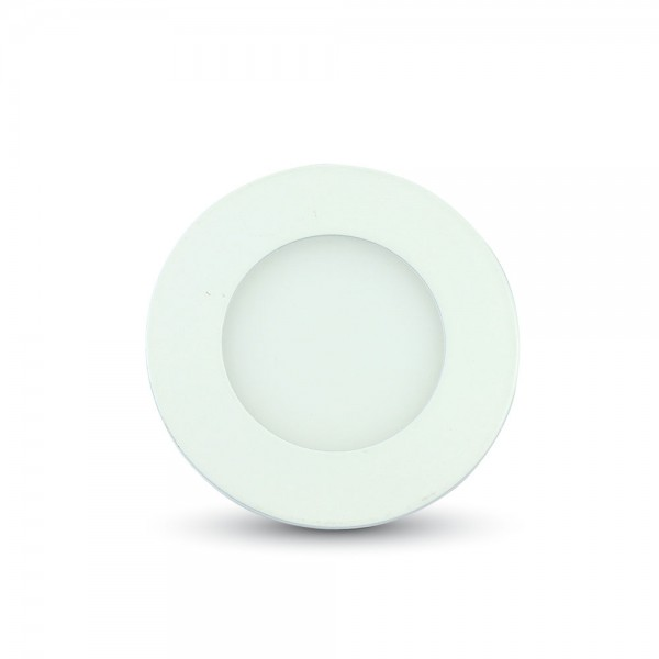 Spot LED 3W Premium Rotund Slim Alb Rece