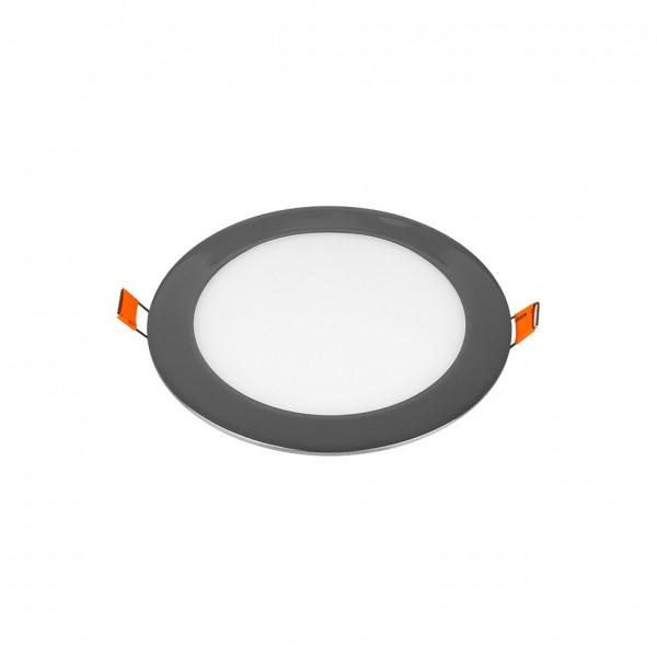 Panou LED 12W Rotund Crom Slim Alb Cald