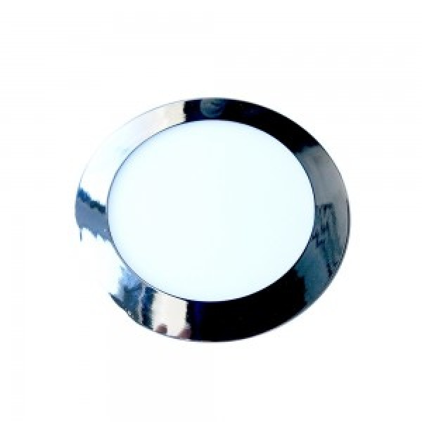 Panou LED 18W Rotund Crom Slim...