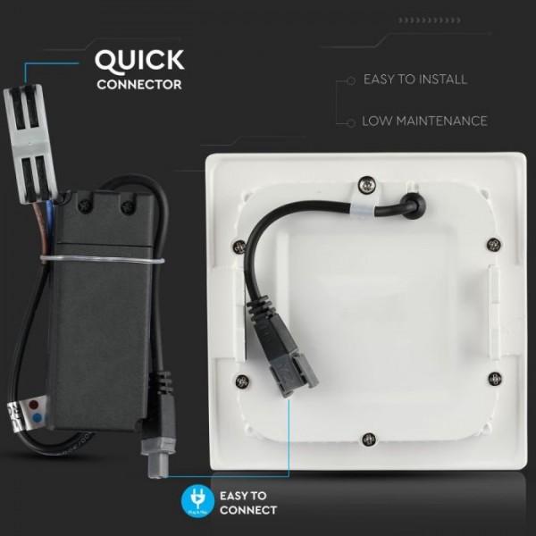 Panou LED 18W Premium Cip SAMSUNG Patrat Alb Neutru