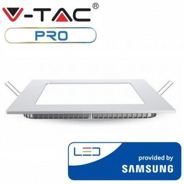Panou LED 18W Premium Cip SAMSUNG Patrat Alb Cald