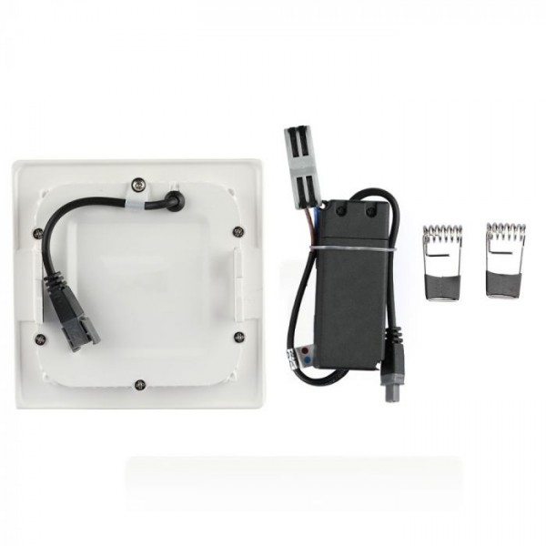 Panou LED 12W Premium Cip SAMSUNG Patrat Alb Rece