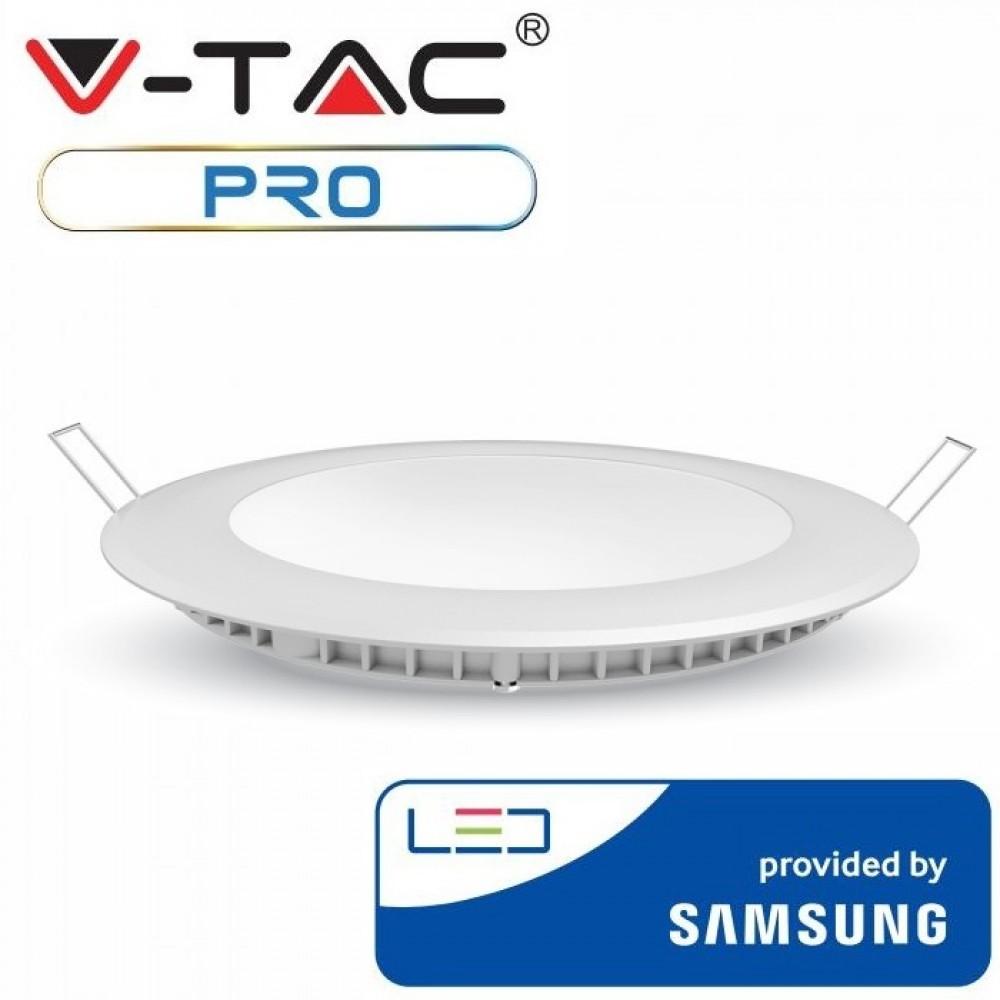 Panou LED 18W Premium Cip SAMSUNG Rotund Alb Cald