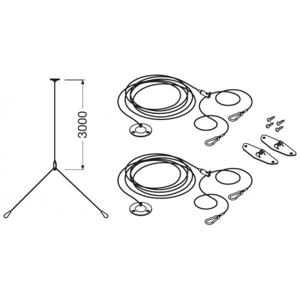 Kit LEDVANCE pentru montaj suspendat panouri LED