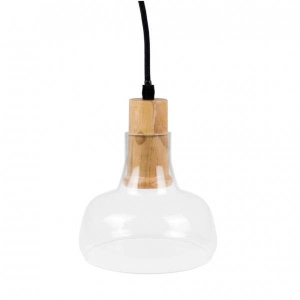 Pendul Sticla Lemn Transparent Ф165mm