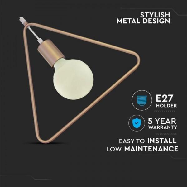Pendul Geometric Auriu Triunghi