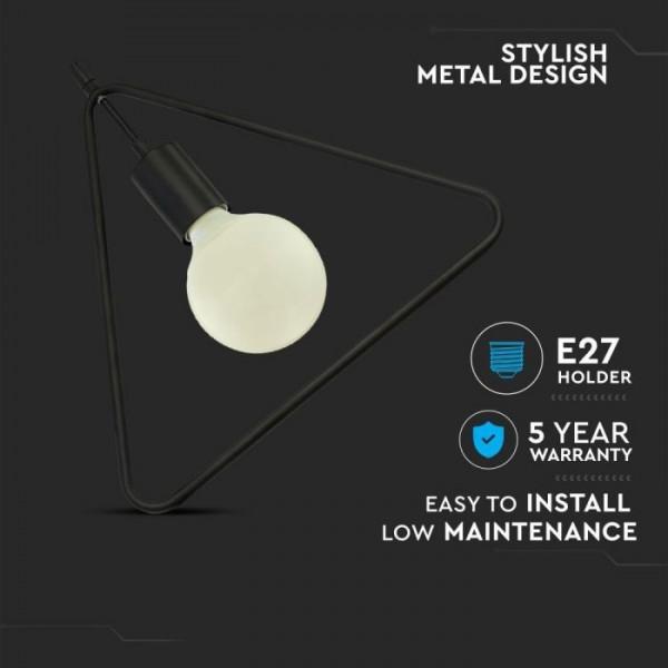 Pendul Geometric Negru Triunghi