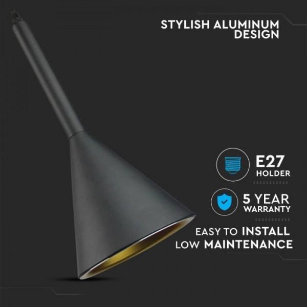 Pendul Dublu Aluminiu Corp Negru