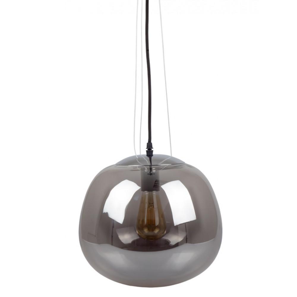 Pendul Modern Sticla Gri Ø300mm
