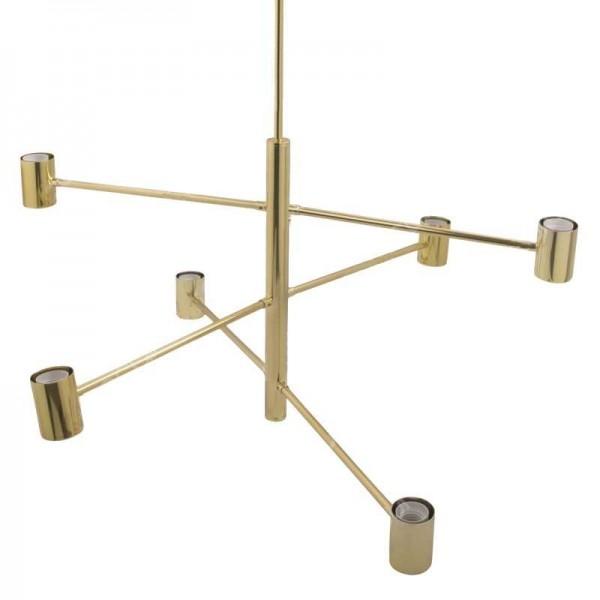 Candelabru modern ajustabil pentru 6 becuri