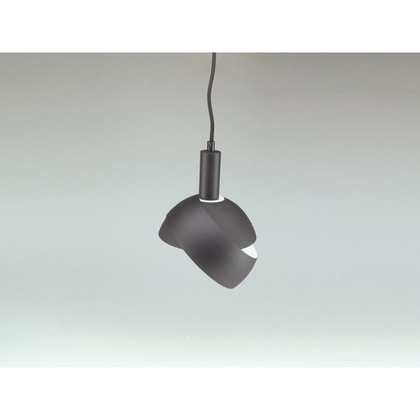 Pendul Plastic E14 cu Margine Mobila de Aluminiu Negru