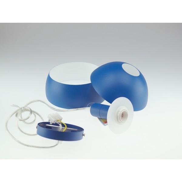 Pendul Plastic E14 cu Margine Mobila de Aluminiu Albastru