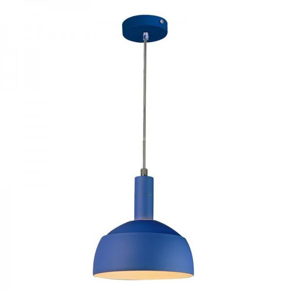 Pendul Plastic E14 cu Margine de Aluminiu Albastru