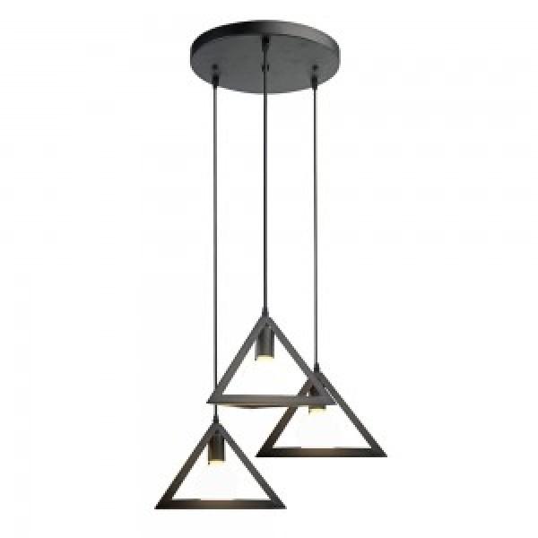 Pendul Trio Geometric E27 Negru