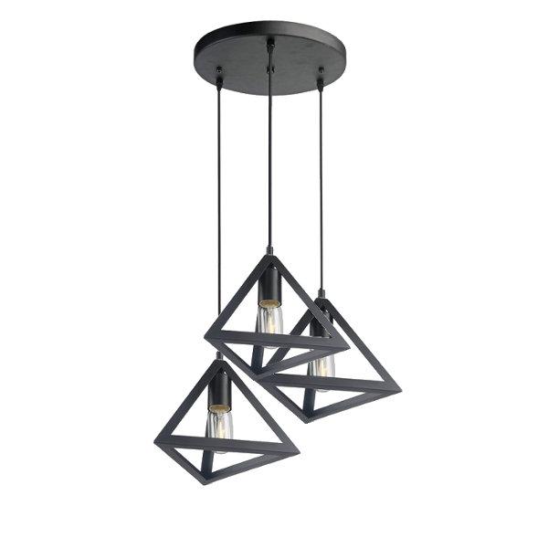 Pendul Trio Geometric Triunghi Negru