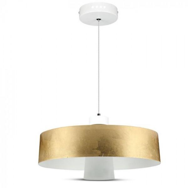 Pendul LED 7W Abajur Auriu Acrilic Alb Neutru