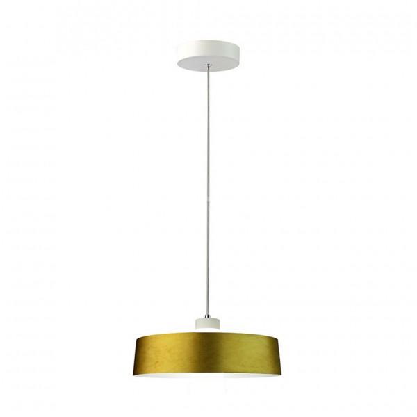 Pendul LED 7W Abajur Auriu Acrilic Alb N...