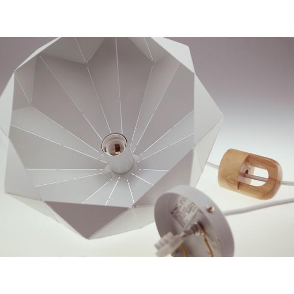 Pendul Pastel cu Lemn Prismatic Alb