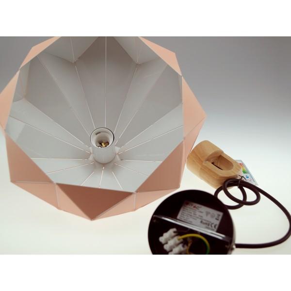 Pendul Pastel cu Lemn Prismatic Roz