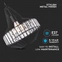 Pendul Metalic cu Cristale partea superioara Corp Negru