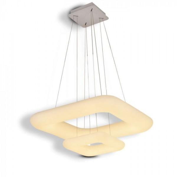 Pendul LED 68W patrat doua inele dimabil 3 in 1
