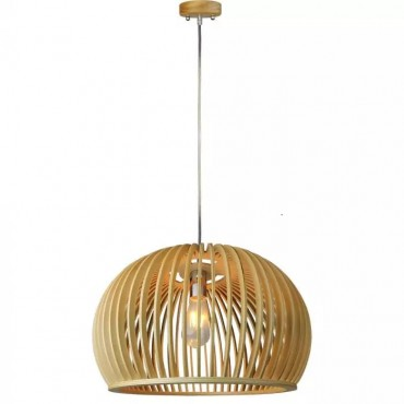 Pendul Lemn cu capac decorativ crom si abajur sferic 440mm