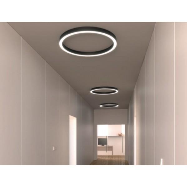 Pendul LED rotund 75W XAMBIT negru 1200mm Alb Cald