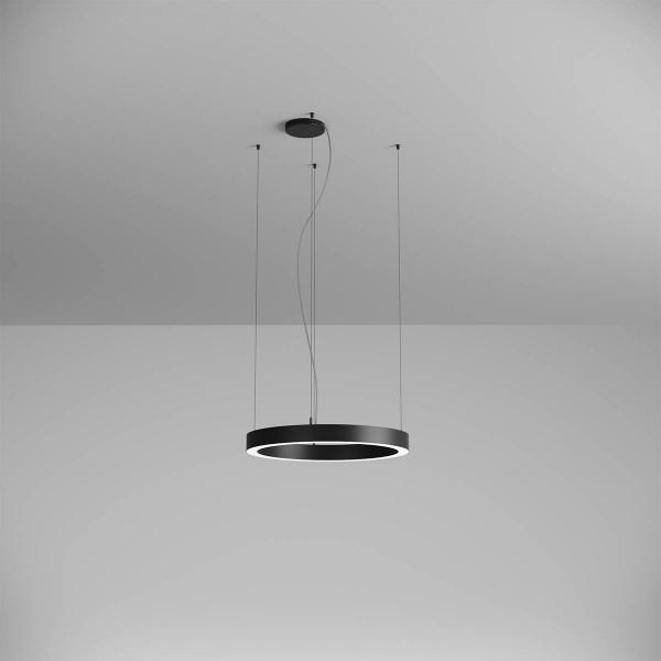 Pendul LED rotund 38W XAMBIT negru 600mm Alb Cald