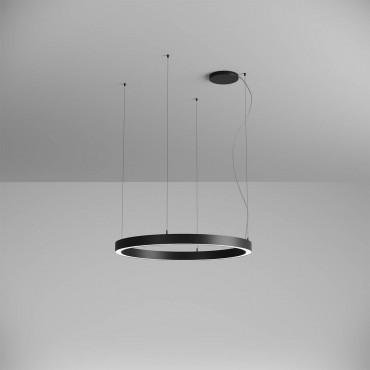 Pendul LED rotund 57W XAMBIT negru 900mm