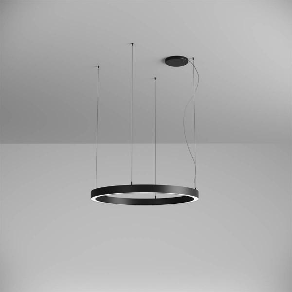 Pendul LED rotund 57W XAMBIT negru 900mm...