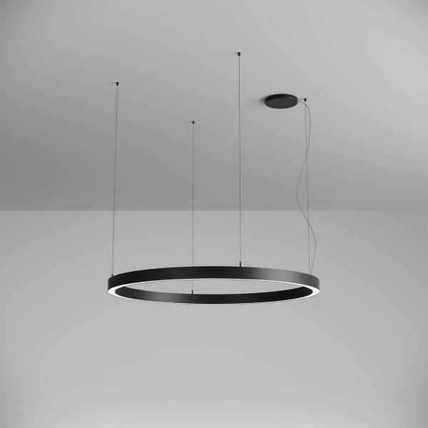 Pendul LED rotund 75W XAMBIT negru 1200m...