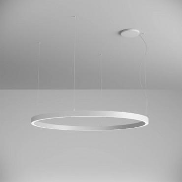 Pendul LED rotund 97W XAMBIT alb 1540mm Alb Neutru