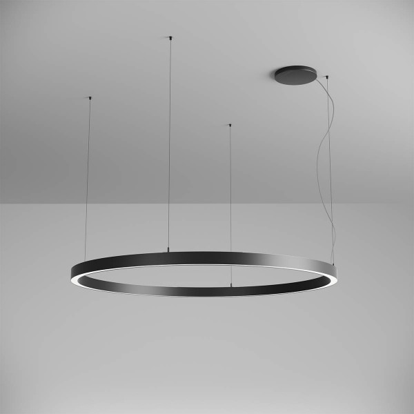 Pendul LED rotund 97W XAMBIT negru 1540mm Alb Cald