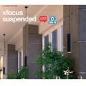 Pendul LED 20W suspendat XFOCUS negru 36 grade Alb Cald