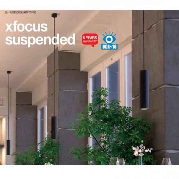 Pendul LED 10W suspendat XFOCUS alb 36 grade Alb Cald