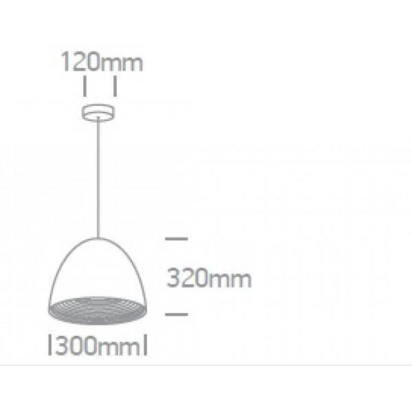 Pendul Bela Alto SCHRACK soclu E27 IP20 negru