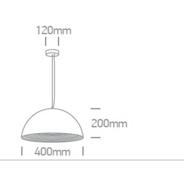 Pendul Dela SCHRACK soclu E27 IP20 negru