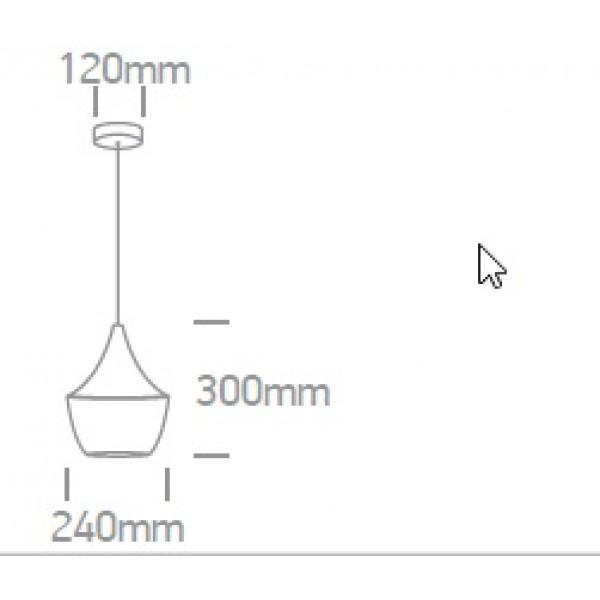Pendul Cony SCHRACK soclu E27 IP20 negru