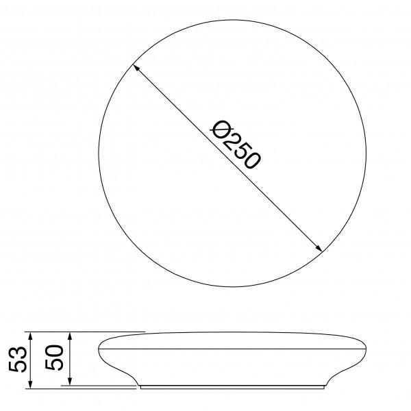 Plafoniera LED 12W rotunda 250mm GEWISS ELIA CL Alb Neutru