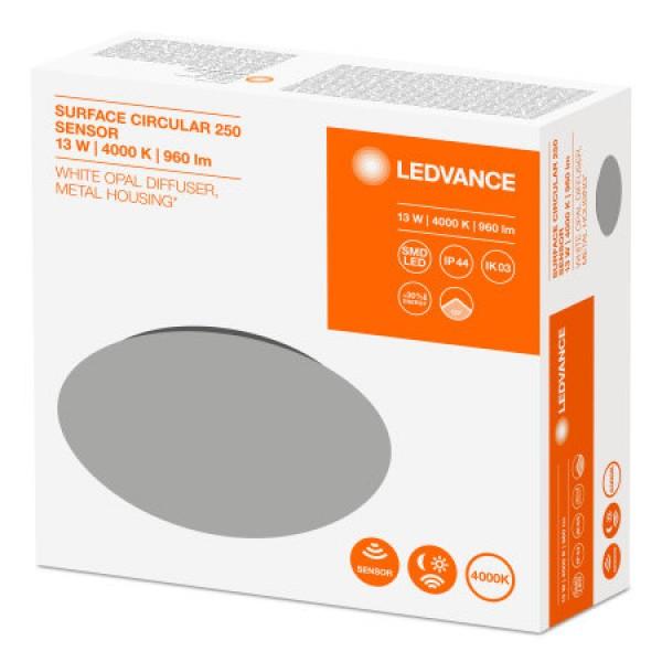 Plafoniera LED 13W LEDVANCE cu senzor microunde Alb Neutru