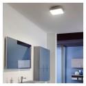 Plafoniera LED SCREEN 12W patrata 220mm crom protectie umezeala