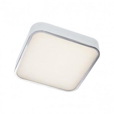 Plafoniera LED SCREEN 30W patrata 300mm crom protectie umezeala