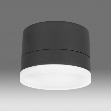 Plafoniera LED 10W de exterior Zelda SCHRACK Corp Negru Alb Cald