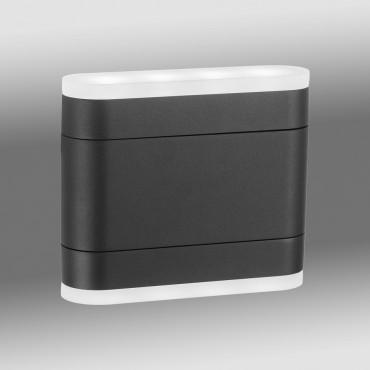 Aplica LED de perete 8.5W orientabila NAOS Flex SCHRACK iluminare sus/jos antracit lumina calda